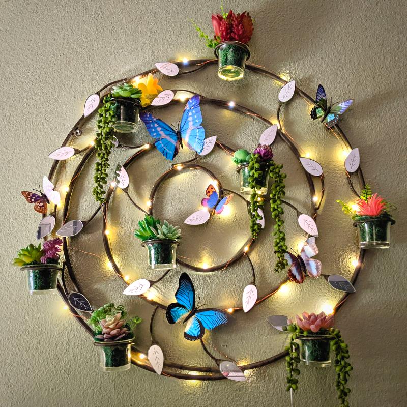 DIY Faux Succulents Wall Decor - DivineMrsDiva.com