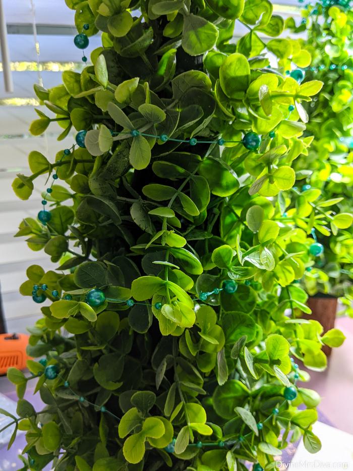 DIY Diva: Decorative Eucalyptus Garland Trees Tutorial