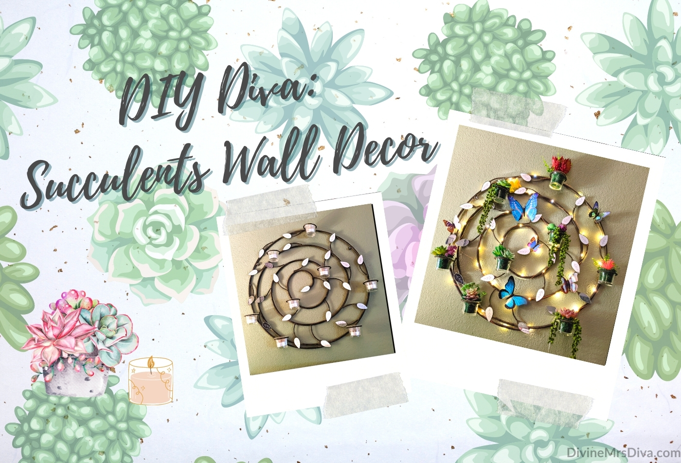 DIY Diva: Faux Succulents Wall Decor