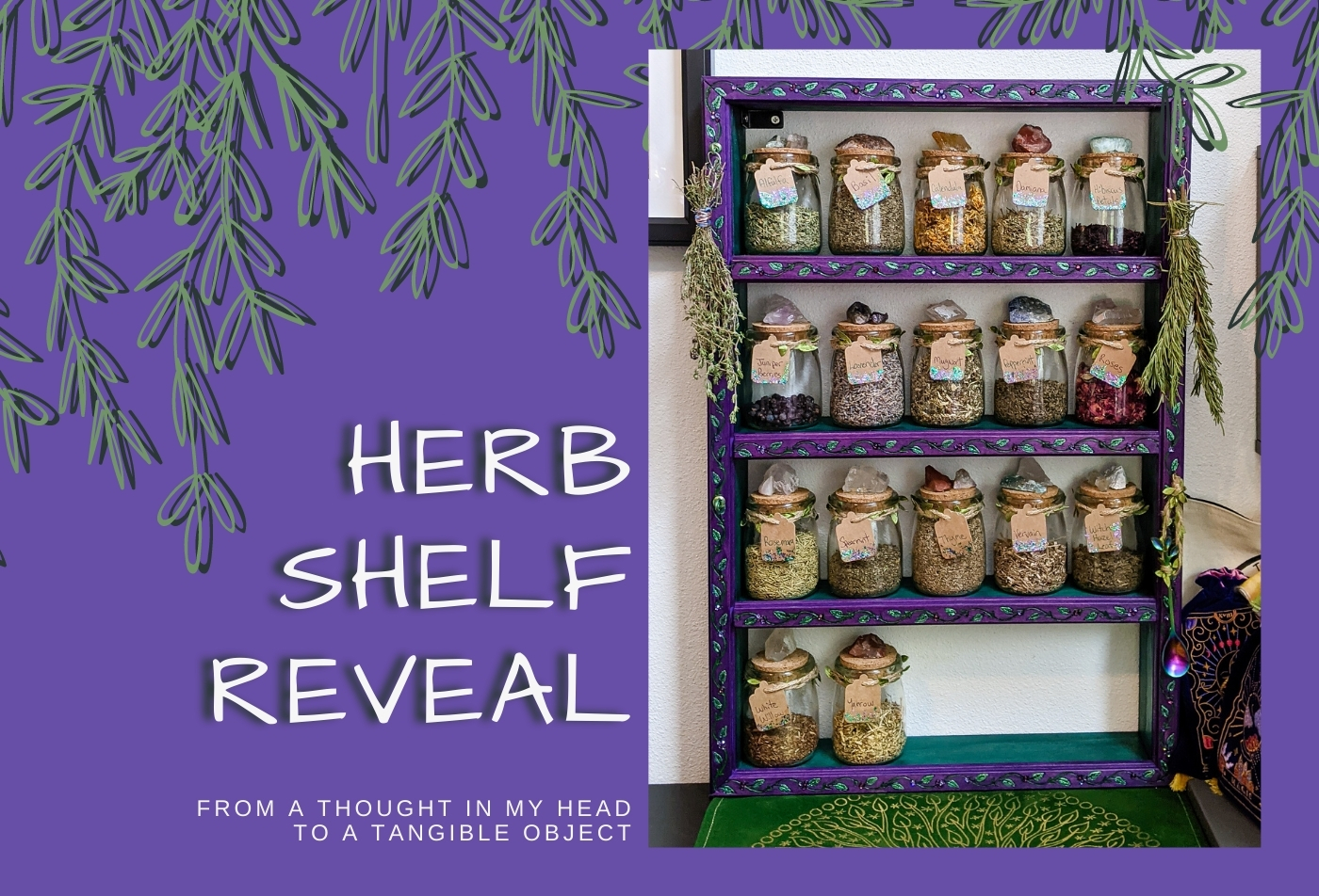 DIY Diva: Custom Herb Shelf Reveal!