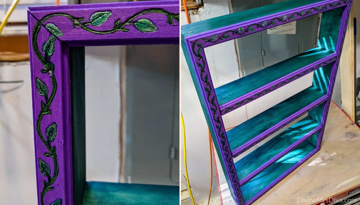 DIY Diva: Custom Herb Shelf Reveal! - DivineMrsDiva.com  {Hailey designed a shelf to house her dried herb jars.}  Dried herbs Witchcraft DIY Do-it-yourself Arts & Crafts Magick