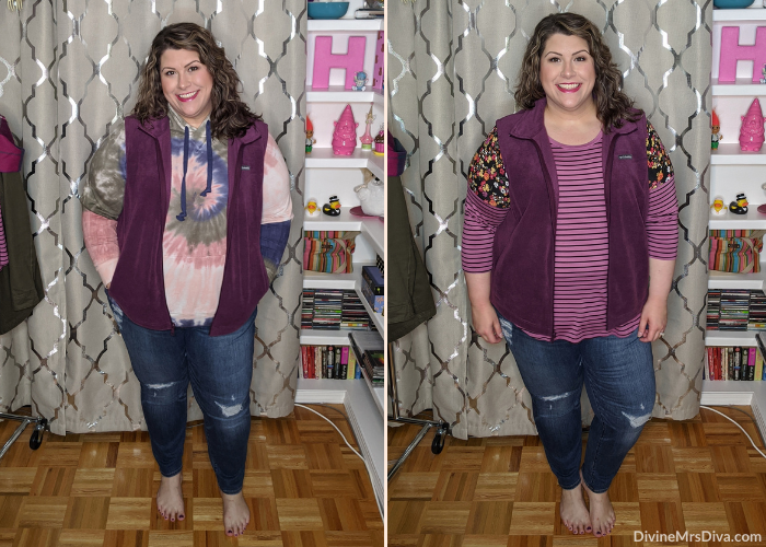 Layering Tips For Fall, ft. Torrid, Halftee, Yours Clothing, Old Navy, Columbia, Loft, & Target! DivineMrsDiva.com #psblogger #plussize #styleblogger #plussizeblogger #plussizefashion #psootd #ootd #plussizeclothing #outfit #style #40style #40plusblogger #FallStyle