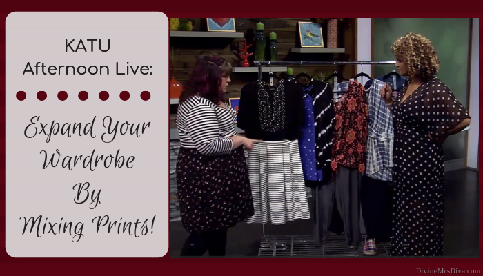 In today's KATU Afternoon Live post, Hailey shares her tips for mixing prints to create stylish ensembles! - DivineMrsDiva.com #AfternoonLive #KATUAfternoonLive #portland #psblogger #psootd #plussize #styleblogger #plussizeclothing #outfit #style #plussizecasual #pdx #plussizeblogger #printmixing #patternmixing