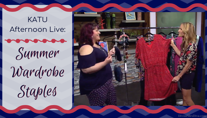 In today's KATU Afternoon Live post, Hailey shares her top essential summer wardrobe items! - DivineMrsDiva.com #AfternoonLive #KATUAfternoonLive #portland #psblogger #psootd #plussize #styleblogger #plussizeclothing #outfit #style #plussizecasual #pdx #plussizeblogger #summerstyle #summerwardrobe #Torrid #LaneBryant #LaneStyle #Swimsuitsforall #UniversalStandard #Catherines #BZees #Crocs