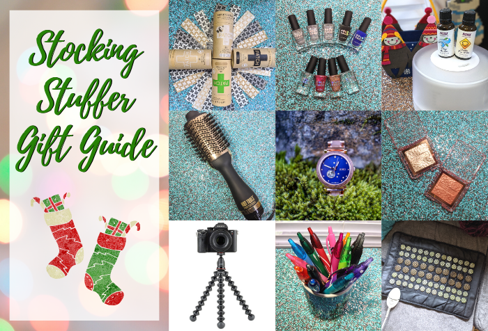 Stocking Stuffer Gift Guide with a variety of items across varying price points - DivineMrsDiva.com  #giftguide #stockingstuffer #Jordwatches #holiday #gifts #christmas