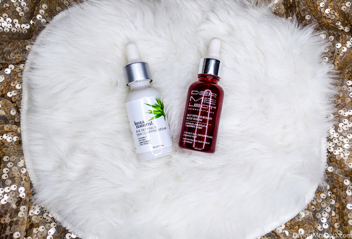 Today Hailey shares products she loves to pamper herself with, that help her destress, and brighten her day as she preps to deal with the negative feelings the holidays can bring. (InstaNatural Vitamin C Anti-Aging Skin Clearing Serum & Dermelect Self-Esteem Beauty Sleep Serum)– DivineMrsDiva.com #holiday #holidayblues #selfcare #mentalhealth #skincare #SmileBrilliant #Teethwhitening #giveaway #amazonfinds #BoneeMaman #TraditionalMedicinals #DailyRitual #RascalHoney #Voke #VokeSuperfood #Purlisse #dermelect #FabFitFun #InstaNatural #SkynIceland