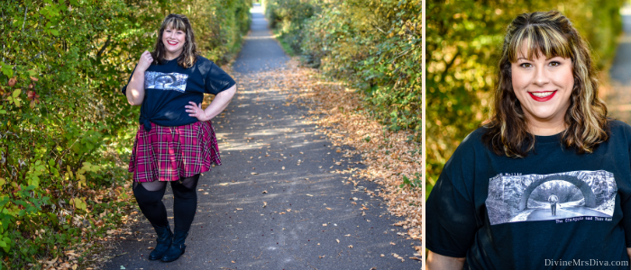In today's post, Hailey's feeling the 90s vibes in this decade-inspired look featuring items from Torrid, Yours Clothing, Curvy Sense, and Brandon Mullis Music. - DivineMrsDiva.com #Torrid #TorridInsider #psblogger #plussizeblogger #styleblogger #plussizefashion #plussize #psootd #ootd #plussizeclothing #outfit #style #plussizecasual #fall #fallstyle #clarks #curvysense #yoursclothing #brandonmullismusic