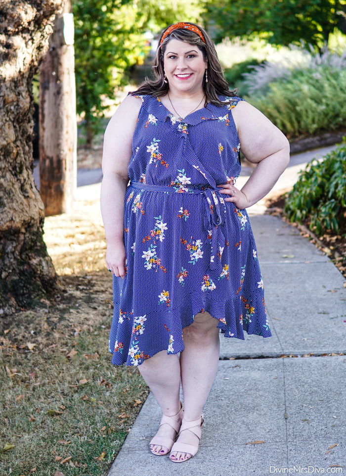 Hailey's reviewing this ruffle number from City Chic! – DivineMrsDiva.com #psblogger #plussizeblogger #styleblogger #plussizefashion #plussize #psootd #ootd #plussizeclothing #outfit #style #citychic #citychiconline #ccworldofcurves #plussizecasual #comfortiva #poptone