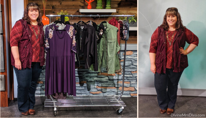 In today's post, Hailey's sharing a casual fall ensemble of warm hues, layers, and bootcut jeans for a change.  - DivineMrsDiva.com #Catherines #CatherinesStyle #LaneBryant #LaneStyle #Createyourlane #Maurices #discovermaurices #Comfortiva #psblogger #plussizeblogger #styleblogger #plussizefashion #plussize #psootd #ootd #plussizeclothing #outfit #style #plussizecasual #spring #fall #springstyle #fallstyle