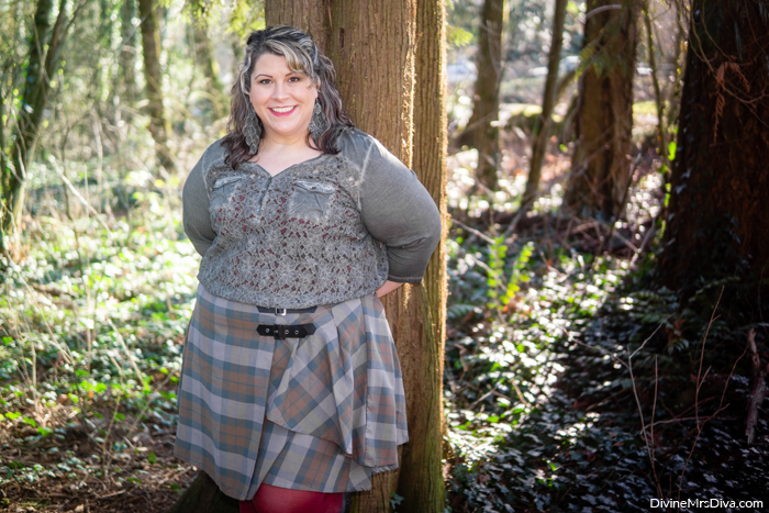 Her Universe Outlander Collection: Tartan Buckle Skirt