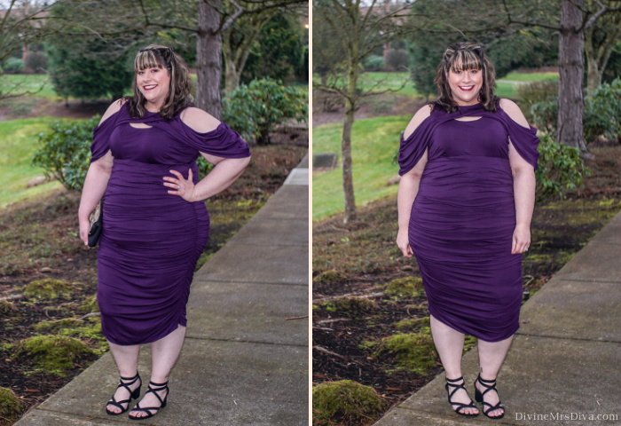 In today's post Hailey reviews the Bianca Ruched Dress from Kiyonna, the perfect dress for flaunting your curves for any occasion! - DivineMrsDiva.com #Kiyonna #KiyonnaStyle #KiyonnaCurves #Torrid #TorridInsider #CharmingCharlie #psblogger #plussizeblogger #styleblogger #plussizefashion #plussize #psootd #ootd #plussizeclothing #outfit #style #bodycon #valentinestyle #ValentinesDay #sexyplussize