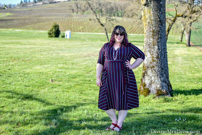 Reviewing Kiyonna's Harmony Faux Wrap Dress