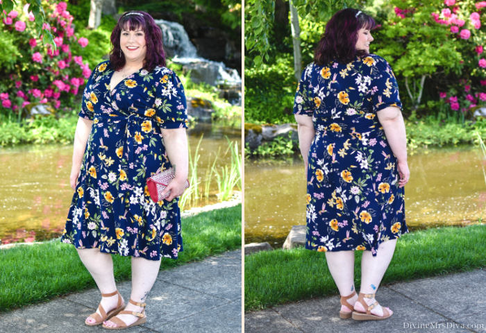 In today's post, Hailey reviews the Tuscan Tie Wrap Dress from Kiyonna, this beautiful knit dress is perfect for any summer soiree but can definitely transition into fall. - DivineMrsDiva.com #Kiyonna #KiyonnaStyle #psblogger #plussizeblogger #styleblogger #plussizefashion #plussize #psootd #ootd #plussizeclothing #outfit #style #holiday #wrapdress #springstyle #summerstyle