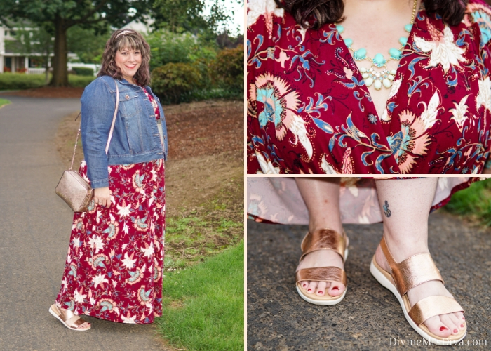 In today's post, Hailey reviews the Vienna Maxi Dress from Kiyonna, a perfect summer to fall piece that can be worn year-round. - DivineMrsDiva.com #Kiyonna #KiyonnaStyle #psblogger #plussizeblogger #styleblogger #plussizefashion #plussize #psootd #ootd #plussizeclothing #outfit #style #maxidress #springstyle #summerstyle #fallstyle