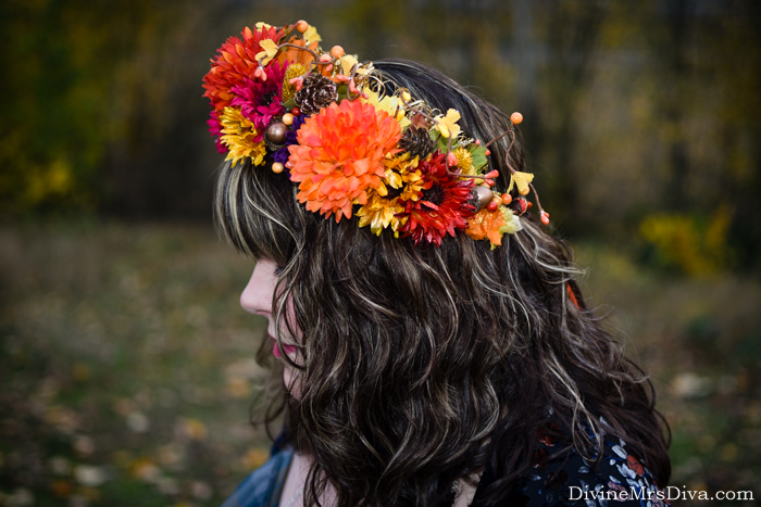 In today's post, Hailey is sharing her an ode to autumn in outfit form and teaching you how to make your own DIY flower crown! – DivineMrsDiva.com #Torrid #TorridInsider #Outlander #Outlanderfashion #lanebryant #targetstyle #modcloth #avenue #psblogger #plussizeblogger #styleblogger #plussizefashion #plussize #psootd #ootd #plussizeclothing #outfit #style #fall #fallstyle #DIY #flowercrown