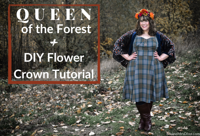 What I Wore: Queen of the Forest + DIY Flower Crown Tutorial