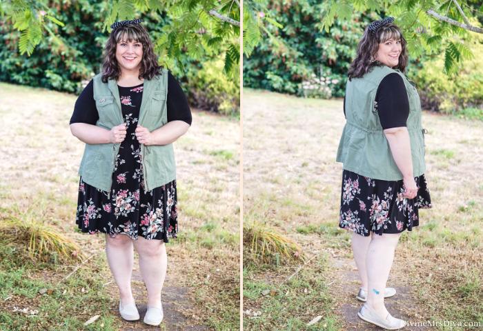 In today's post, Hailey's bringing you a layered look that really represents her personal style – comfy, cute, and casual.  - DivineMrsDiva.com #Torrid #TorridInsider #TargetStyle #CobbHill #AmazonFinds #psblogger #plussizeblogger #styleblogger #plussizefashion #plussize #psootd #ootd #plussizeclothing #outfit #style #plussizecasual #spring #fall #springstyle #fallstyle