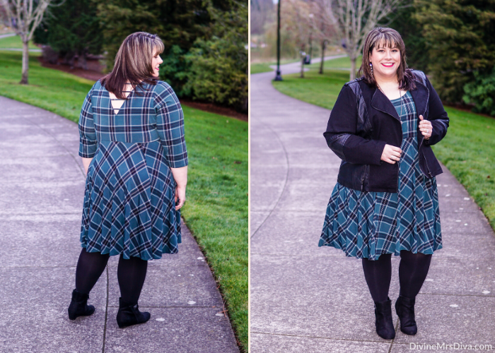 Hailey's reviewing this fall/winter plaid skater dress ensemble! – DivineMrsDiva.com #psblogger #plussizeblogger #styleblogger #plussizefashion #plussize #psootd #ootd #plussizeclothing #outfit #style #torrid #Torridinsider #Feelthefit #Catherines #CityChic