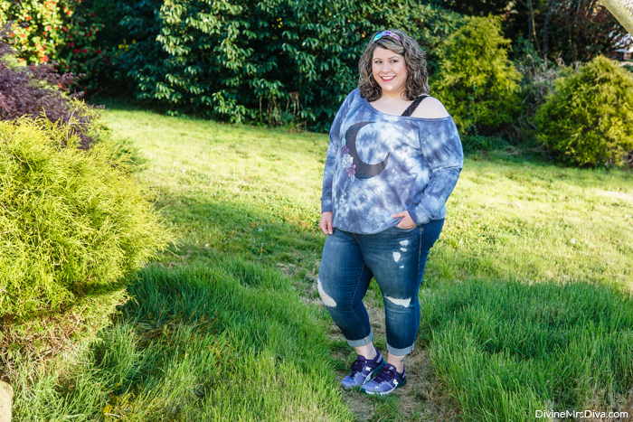 Reviewing pieces in this casual look from Torrid, Maurices, & On Shoes - DivineMrsDiva.com #psootd #plussizeblogger #styleblogger #plussizefashion #plussize #psootd #ootd #plussizeclothing #outfit #style #plussizecasual