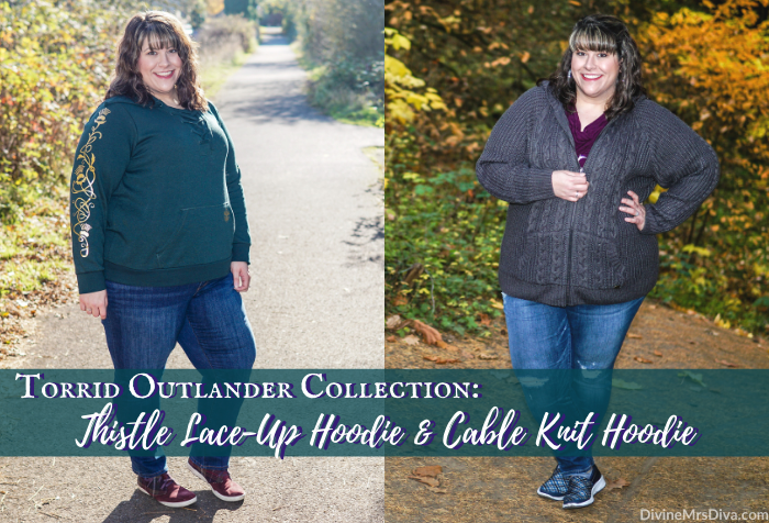 Torrid Outlander Collection Review: Thistle Lace-Up Hoodie & Cable Knit Hoodie