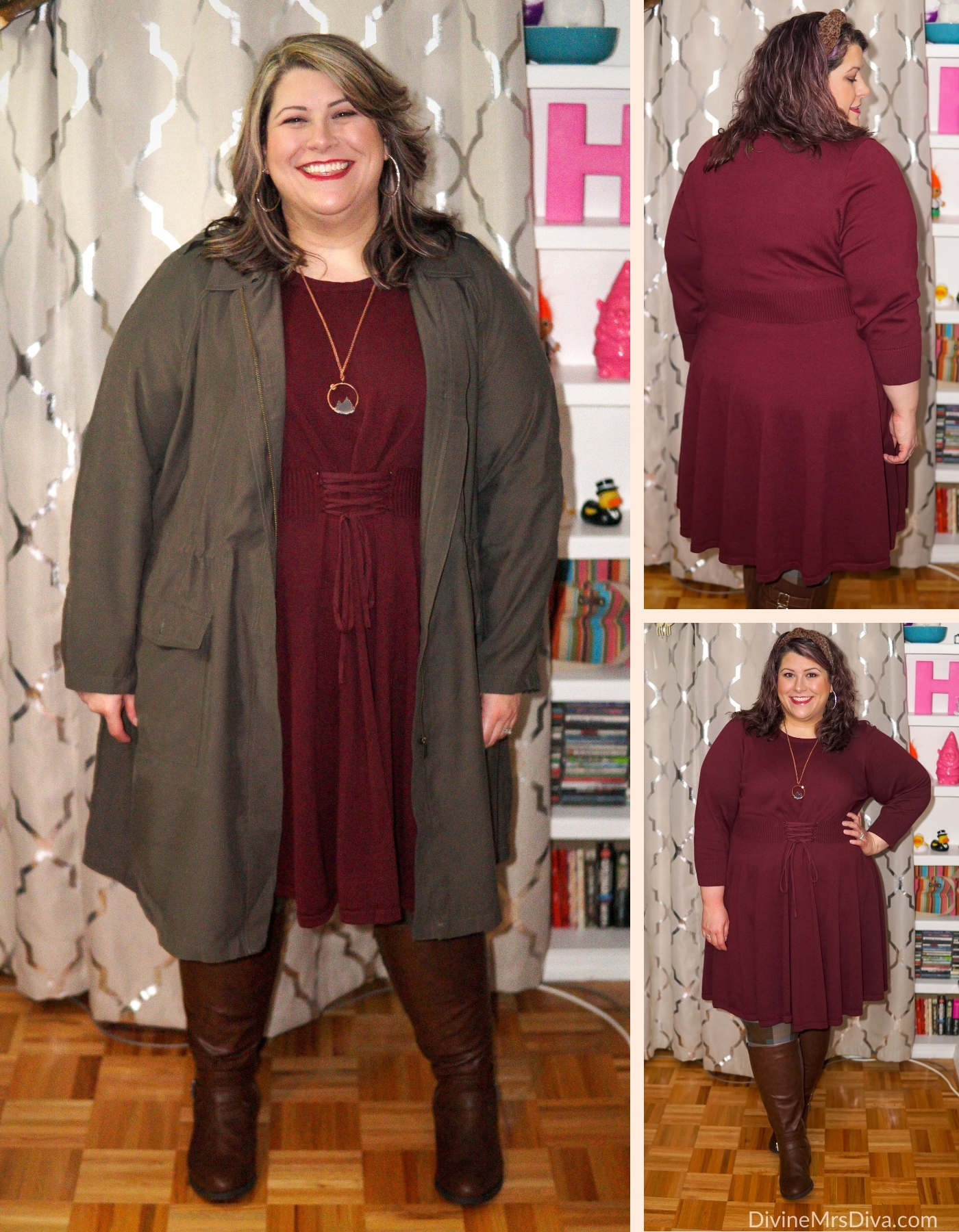 Reviewing a couple pieces from the 2020 Torrid Outlander Collection -  DivineMrsDiva.com #psblogger #plussize #styleblogger #plussizeblogger #plussizefashion #psootd #ootd #plussizeclothing #outfit #style #40style #40plusblogger #FallStyle #WinterStyle #Torrid #Outlander #OutlanderFashion