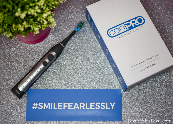 Smile Brilliant cariPRO Ultrasonic Electric Toothbrush Review + Giveaway! - DivineMrsDiva.com  #caripro #smilebrilliant #smilefearlessly #electrictoothbrush #cariproultrasonic