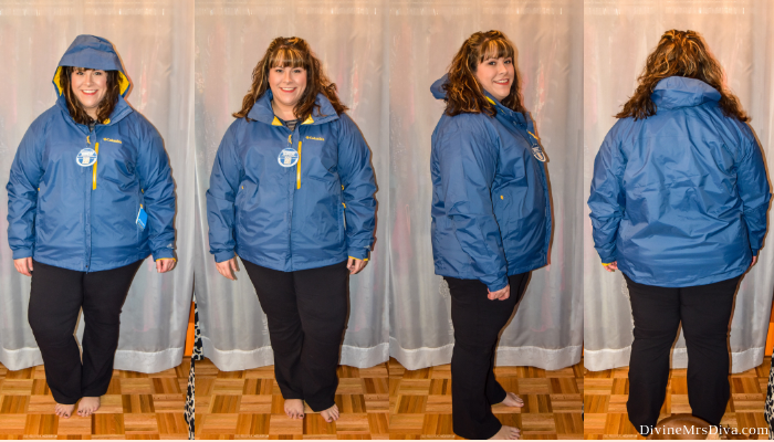 In today's At Home Fitting Room post, Hailey is trying on lots of outdoor apparel for an upcoming vacation!  Waterproof jackets, outdoor/hiking clothing bottoms, and waterproof hiking shoes are featured. (Columbia Men's Pouration Waterproof Rain Jacket) – DivineMrsDiva.com #Columbia #KEEN #Teva #UllaPopken #NewBalance #hiking #outdoor #fatgirlshiking #plussizetravel #psblogger #plussizeblogger #styleblogger #plussizefashion #plussize #plussizeclothing #outfit #plussizecasual #fittingroom