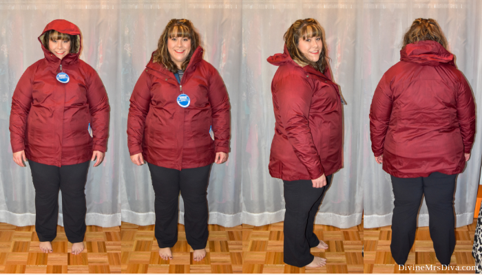 In today's At Home Fitting Room post, Hailey is trying on lots of outdoor apparel for an upcoming vacation!  Waterproof jackets, outdoor/hiking clothing bottoms, and waterproof hiking shoes are featured. (Columbia Splash A Little II Plus Size Jacket) – DivineMrsDiva.com #Columbia #KEEN #Teva #UllaPopken #NewBalance #hiking #outdoor #fatgirlshiking #plussizetravel #psblogger #plussizeblogger #styleblogger #plussizefashion #plussize #plussizeclothing #outfit #plussizecasual #fittingroom