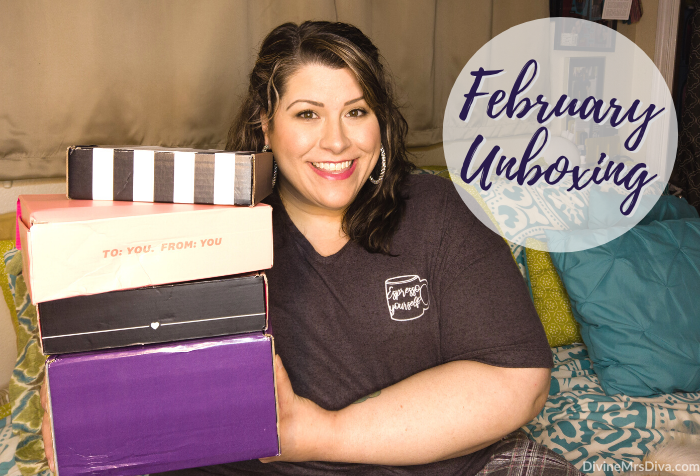 In today's post, Hailey unboxes her February 2020 subscription boxes! - DivineMrsDiva.com #SephoraPlay #Boxycharm #Weebox #Ipsy #unboxing #subscriptionbox #beauty #makeup #haircare #skincare #beautybag #beautybox