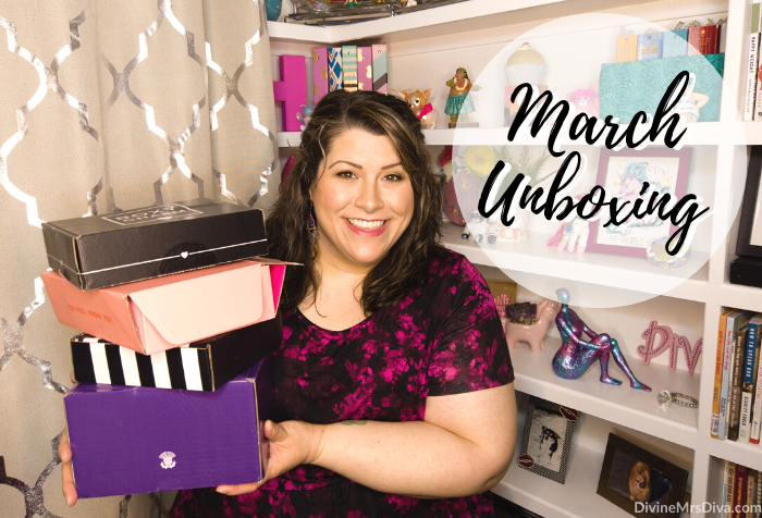 In today's post, Hailey unboxes her March 2020 subscription boxes! - DivineMrsDiva.com #SephoraPlay #Boxycharm #Weebox #Ipsy #unboxing #subscriptionbox #beauty #makeup #haircare #skincare #beautybag #beautybox